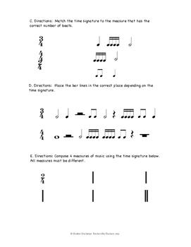 Simple Time Signature & Notes/Rests Quiz