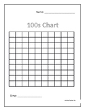 Simple Timed Hundreds Chart | Math Activity | FREE