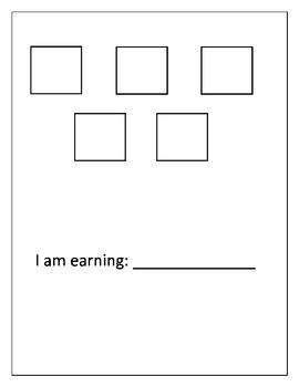 Simple Token Economy Behavior Board