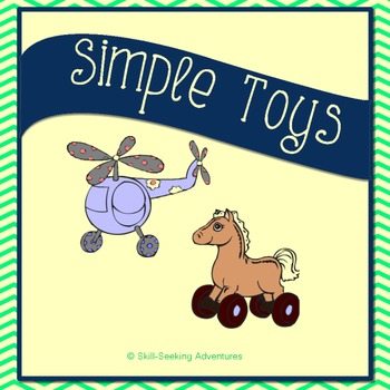 Simple Toys Clip Art for Personal or Commercial Use - 16 PNGs