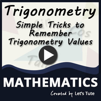 Simple Trick to Remember Trigonometry Values