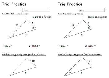 Simple Trig Practice