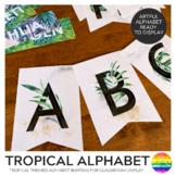 TROPICAL Alphabet Bunting