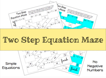 Simple Two Step Equation Maze