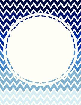 Simple Umbre Chevron Blank Poster Set
