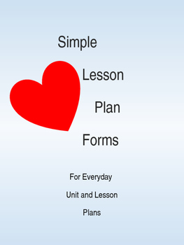 Simple Unit and Lesson Plan Forms *Fully Editable*