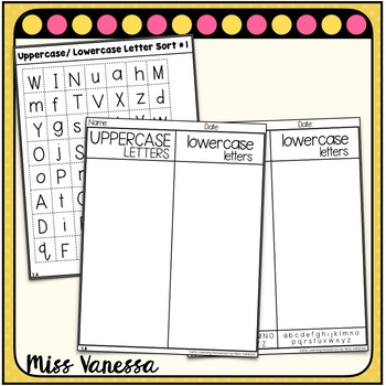 A Simple Uppercase/ Lowercase Letter Sort, Cut and Paste Letters Activity