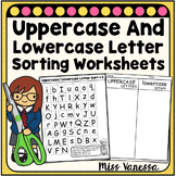 Uppercase And Lowercase Letter Sorting Worksheets for Dist