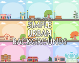 Simple Urban Backgrounds (Lime and Kiwi Designs)