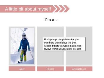 Simple & Useful Teacher's self intro PPT Template