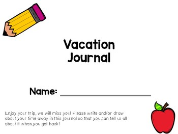 Simple Vacation Journal