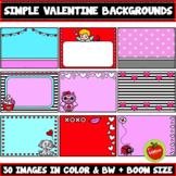 Simple Valentine's Day Backgrounds Clipart (Boom Card Size