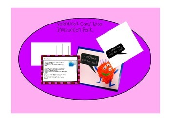 Simple Valentine's Card for Pre-K and Kindergarten - Printing and Sticking