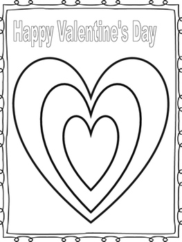 Simple Valentine's Day Coloring Sheet