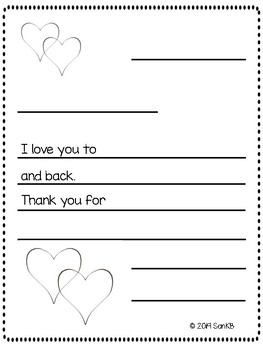 Simple Valentines Day Letter template. (Bilingual!)