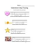 Simple Valentine's Tracing