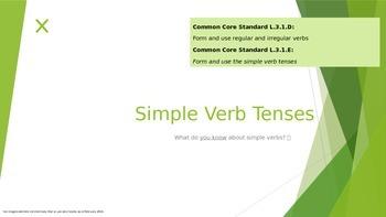 Simple Verb Tenses (Common Core Standards L.3.1.D and L.3.1.E)