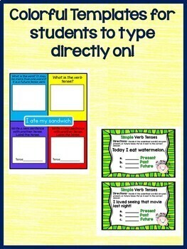 Simple Verb Tenses Interactive Notebook Practice for Google Drive  L.3.1.E
