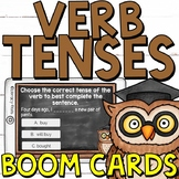 Simple Verb Tenses (Past, Present, Future) Boom Cards (Digital Task Cards)