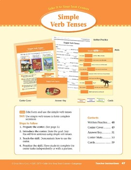 Simple Verb Tenses (Take It to Your Seat Centers: Common Core Language)