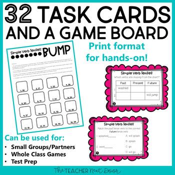 Simple Verb Tense Game | Verb Tense Center | Verb Tense Activities