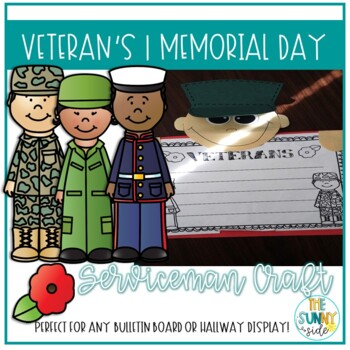 Simple Veteran's Day Memorial Craft & Writing Activity