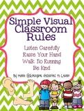 Simple Visual Classroom Rules