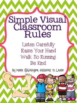 Simple Visual Classroom Rules
