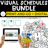 Simple Visual Schedules Bundle for Special Education