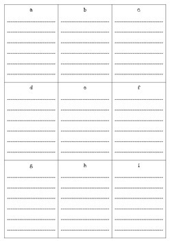 Simple Vocabulary Journal