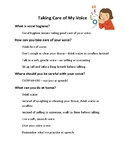 Simple Vocal Hygiene Handout for Young Children