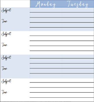 *BEST*  FREE Weekly Lesson Plan Template