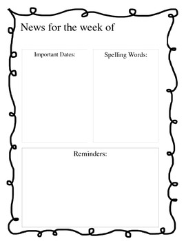 Simple Weekly Newsletter