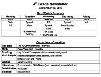 Simple Weekly Newsletter Template