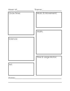 Simple Weekly Planner - Pre-School