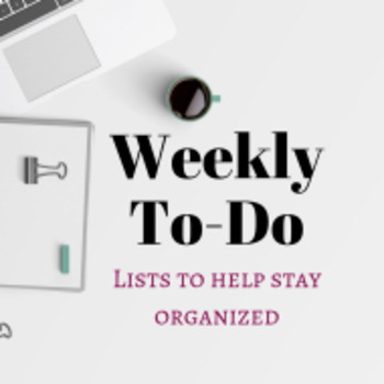 Simple Weekly To-Do Lists