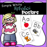 Simple White Alphabet Posters