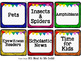 EDITABLE  White Library Labels {for Target Dollar Spot Pockets)