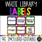 Target Adhesive Pocket Labels | Library Labels | Square Pockets | White Labels