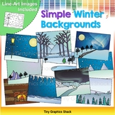 Simple Winter Background Clip Art