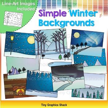 Simple Winter Background Clip Art