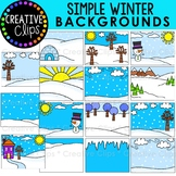 Simple Winter Backgrounds: Winter Clipart