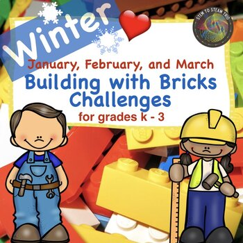 Simple Winter Brick Building  STEM Challenges