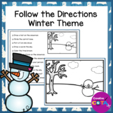 Simple Winter Follow the Directions Coloring Pages