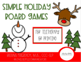 Simple Winter Holiday Themed Board Games - Print or No Print
