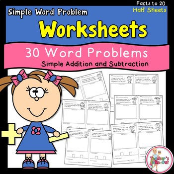 Simple subtraction worksheets up to 20