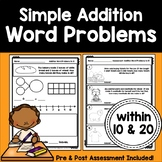 Simple Math Word Problems: Addition within 10 and 20