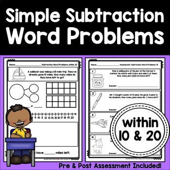 Simple Word Problems: Subtraction within 10 and 20
