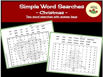 Simple Word Searches - Christmas