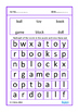 Nouns and Verbs Simple Word Search Puzzles Autism Special Education